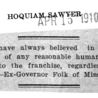 Page 076 : [Former Governor of Missouri in favor of Woman Suffrage]