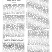 Page 163 : Equal Suffrage Argument: Alex Lackey and Mildred Brooks Win Cash Prizes Offered by Local Equal Suffrage Club (continued on page 164)