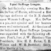 Page 36 : Equal Suffrage League