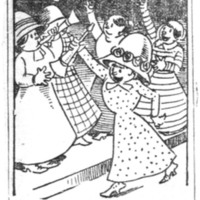 Page 073 : [Cartoon : Victory for woman's suffrage]