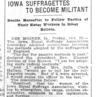 Page 046 : Iowa Suffragettes To Become Militant