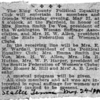 Page 063 : [news clipping: Political Equality League Meets at Fairfield]