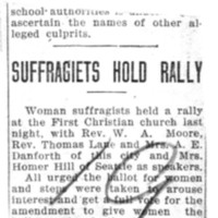 Page 045 : Suffragists Hold Rally