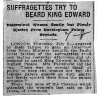 Page 097 : Suffragettes Try to Beard King Edward