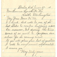 Letter from Ms. T. Camp, 6/29/1912