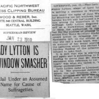 Page 126 : Lady Lytton Is Window Smasher