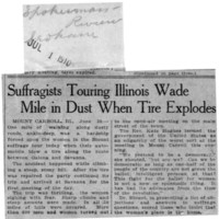 Page 022 : Suffragists Touring Illinois Wade Mile in Dust When Tire Ecpoldes