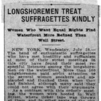 Page 122 : Longshoremen Treat Suffragettes Kindly
