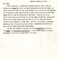 Letter from Ida Harper to Cora Smith King, 12/6/1920, page 1
