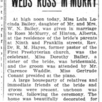 Page 131 : Miss Lulu Bailey Weds Ross M'Murry