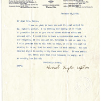 Letter from Harriet Upton to Emma Smith DeVoe, 1/29/1908, page 1