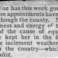 Page 30 : [news clipping: County appointments of equal suffrage clubs]