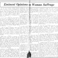 Page 027 : Eminent Opinions on Woman Suffrage