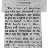 Page 110 : [news clipping: Women Put Up Fight]