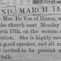 Page 27 : [news clipping: Emma Smith DeVoe speaks in church]