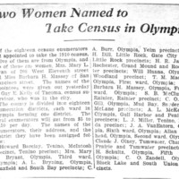 Page 091 : Two Women Named to Take Census in Olympia