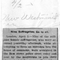 Page 136 : Nine Suffragettes Go to Jail