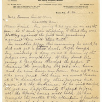 Letter from Harry Ferguson to Emma Smith DeVoe, 3/26/1910, page 1