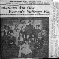 Page 030 : Unitarians Will Give Woman's Suffrage Play