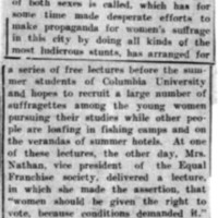 Page 143 : [news clipping: Equal Franchise Society Arranges Lectures]