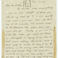 Letter from Cora Smith Eaton to John DeVoe, 12/21/1907, page 1