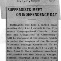 Page 030 : Suffragists Meet on Independence Day