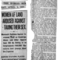 Page 139 : Women of Land Aroused Against Taxing Their Sex