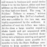 Page 012 : [news clipping: Review of Emma Smith DeVoe lecture at Ireton, Iowa]