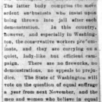 Page 175 : [news clipping: suffrage divided into Two Sets]