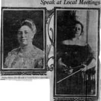 Page 072 : Prominent Suffragists Who Speak at Local Meetings