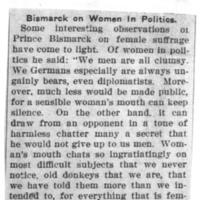 Page 175 : Bismark on Women in Politics
