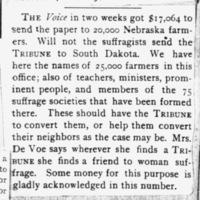 Page 33 : [news clipping: The Voice raises funds]