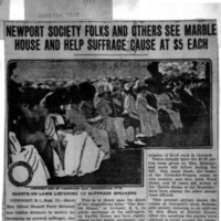 Page 163 : Newport Society Folks and Others See Marble House and Help Suffrage Cause at $5 Each
