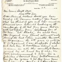 Letter from Harry Ferguson to Emma Smith DeVoe, 11/9/1910, page 1