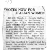 Page 006 : Votes Now for Italian Women