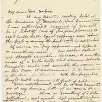 Letter from Luci Isaacs to Emma Smith DeVoe, 6/27/1908, page 1