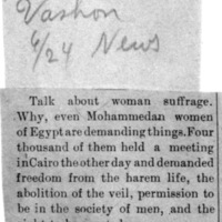 Page 028 : [news clipping: Egyptian women Demand Things]