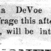 Page 36 : [news clipping: Emma Smith DeVoe is well-attended]
