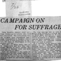Page 123 : Campaign on for Suffrage