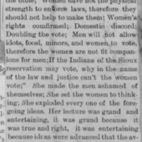 Page 25 : [news clipping: Emma Smith DeVoe lectures at Osceola]