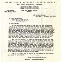 Letter from Ida Harper to Cora Smith King, 10/26/1920, page 1