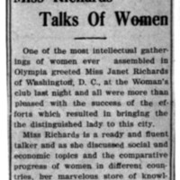 Page 144 : Miss Richards Talks of Women