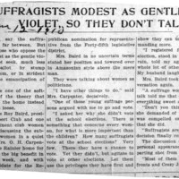 Page 177 : Anti-Suffragists Modest As Gentle Violet, So They Don't Talk Much