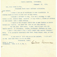 Letter from Cicero Newell to Emma Smith DeVoe, 2/27/1909