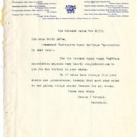 Letter from Fannie Fernald to Emma Smith DeVoe, 11/30/1910, page 1