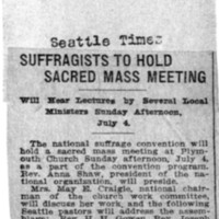 Page 031 : Suffragists to Hold Sacred Mass Meeting