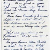 Letter from Fanny Price Webb to Bernice Sapp, 12/20/1929, page 2