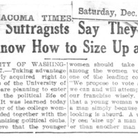Page 122 : Co-ed Suffragists Say They Know How To Size Up A Man