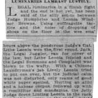 Page 111 : Brown vs. Humphries, or Legal Luminaries Lambast Lustily