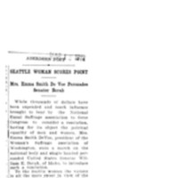 Page 021 : Seattle Woman Score Point: Mrs. Emma Smith DeVoe Persuades Senator Borah